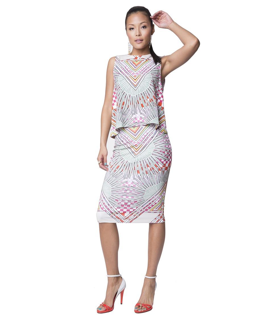 Mara Hoffman - Ponte High Waisted Skirt (Rainbow Palms Stone) Women