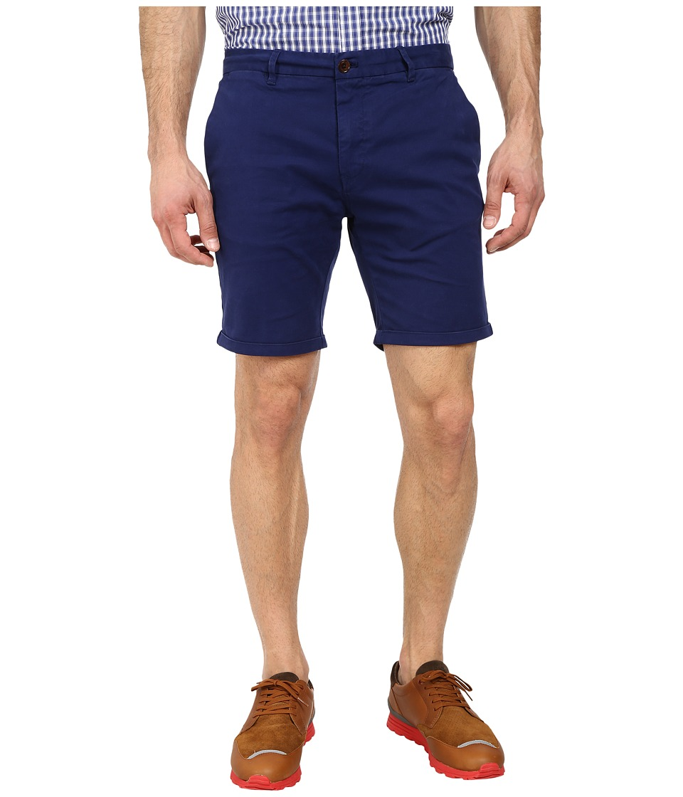 Scotch & Soda - Peach Touch Twill Chino Shorts (Cobalt) Men's Shorts
