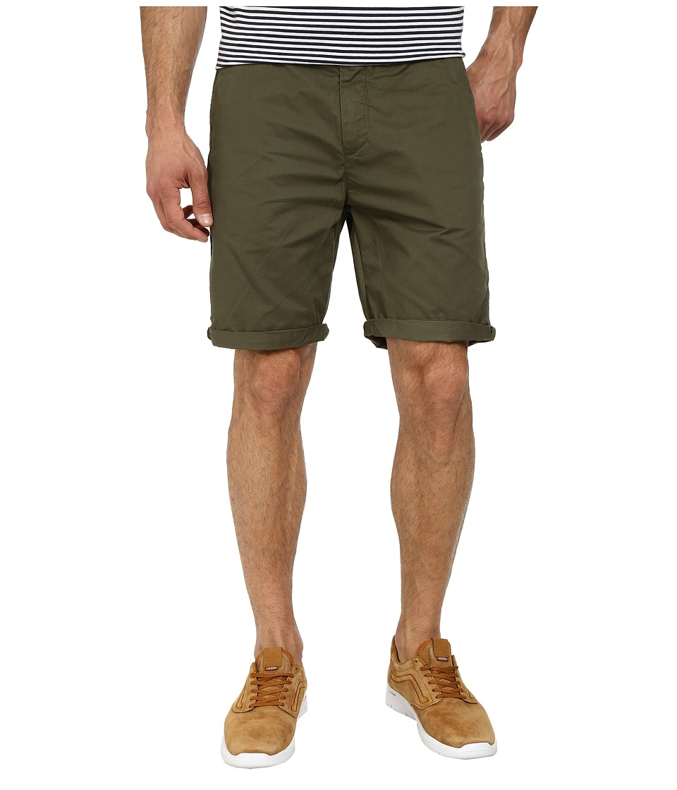 Scotch & Soda - Pima Cotton Chino Shorts (Army Green) Men's Shorts