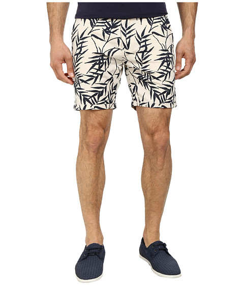 Scotch & Soda - Slub Printed Chino Shorts (White/Black) Men