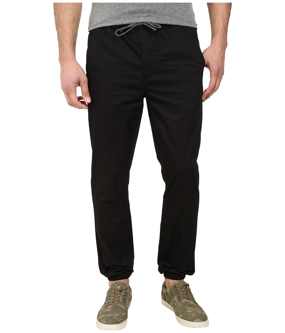 Scotch & Soda - Twill Jogger Pants (Black) Men's Casual Pants