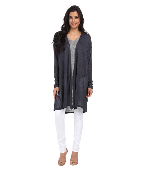 ONLY - Future Long Sleeve Ultra Long Cardigan (Grisaille) Women's Sweater