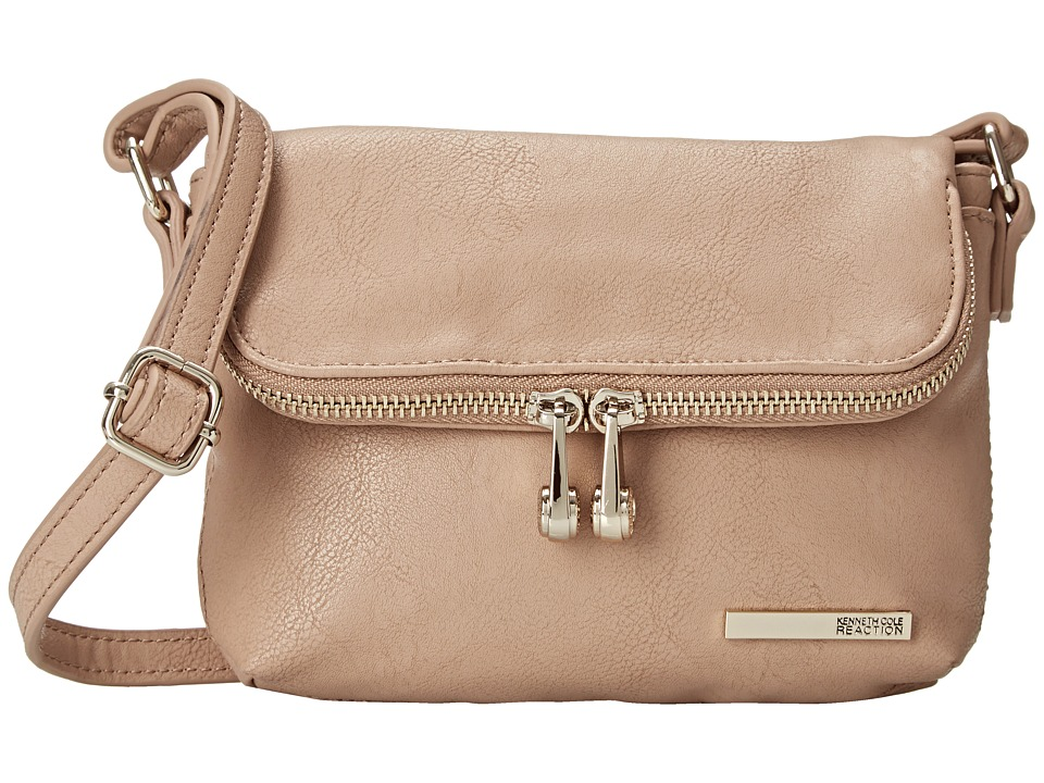 Kenneth Cole Reaction - Wooster Street Fold Over Flap (Putty) Cross Body Handbags