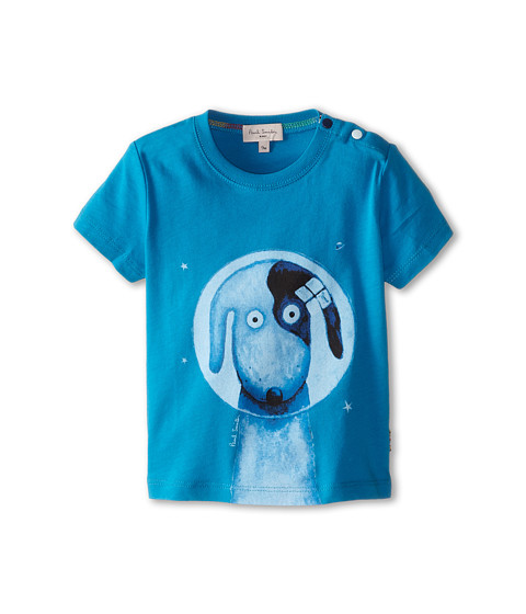 Paul Smith Junior - Dog Astronaut T-Shirt (Infant) (Seaspray) Boy