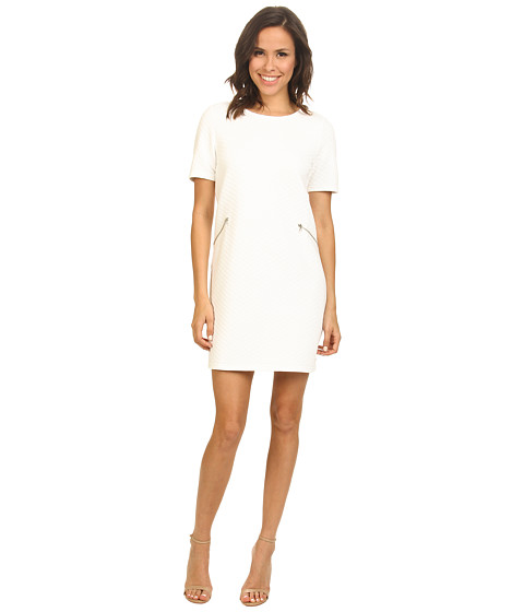 ONLY - New Quilla Short Sleeve Dress (Cloud Dancer) Women's Dress