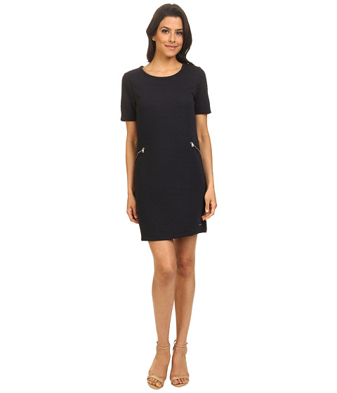 ONLY - New Quilla Short Sleeve Dress (Navy Blazer) Women's Dress