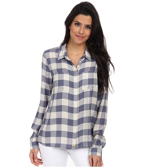 ONLY - Maurice Long Sleeve Shirt (Grisaille) Women's Long Sleeve Button Up