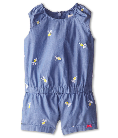 Paul Smith Junior - Pinapple Embroidered Romper (Infant) (Light Baby Denim) Girl's Jumpsuit & Rompers One Piece