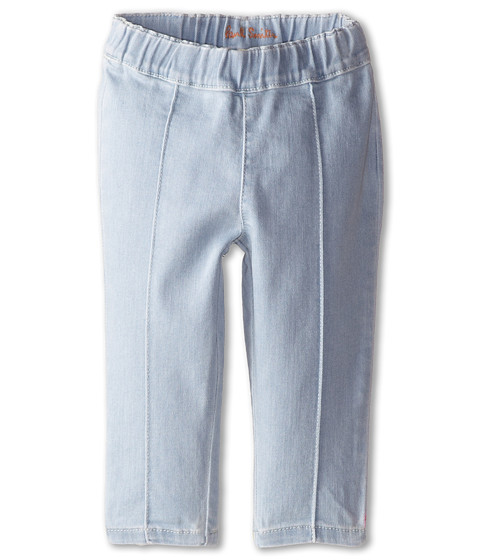 Paul Smith Junior - Jeans with Pink Bow Leggings in Light Baby Denim (Infant) (Light Baby Denim) Girl's Jeans