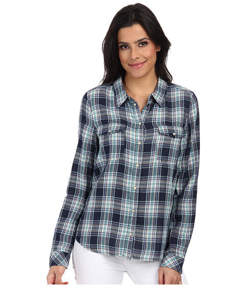 ONLY - Cara Long Sleeve Shirt (Navy Blazer) Women's Clothing