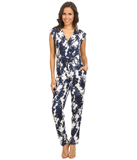 ONLY - Barbara Sleeveless Playsuit (Blue Depths) Women's Jumpsuit & Rompers One Piece