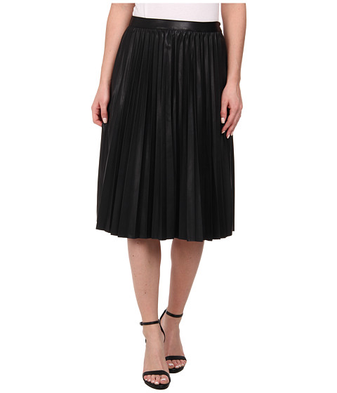 ONLY - Midi Pleated Skirt (Black) Women's Skirt