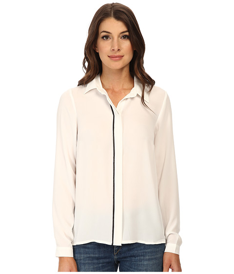 ONLY - Sue Slit Long Sleeve Shirt (Cloud Dancer) Women
