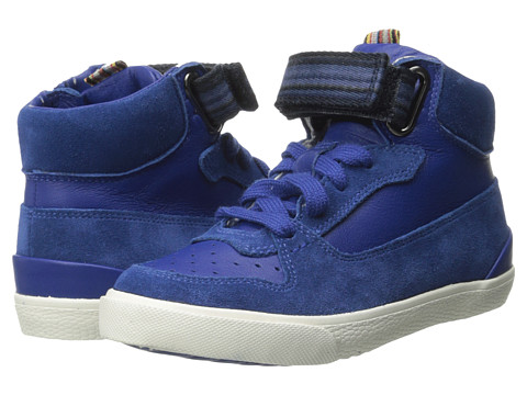 Paul Smith Junior - Hightop Sneaker (Toddler/Little Kid) (Mr. Klein's Blue) Boy's Shoes
