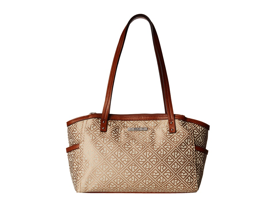 Relic - Logo Jacquard Double Shoulder (Khaki) Shoulder Handbags
