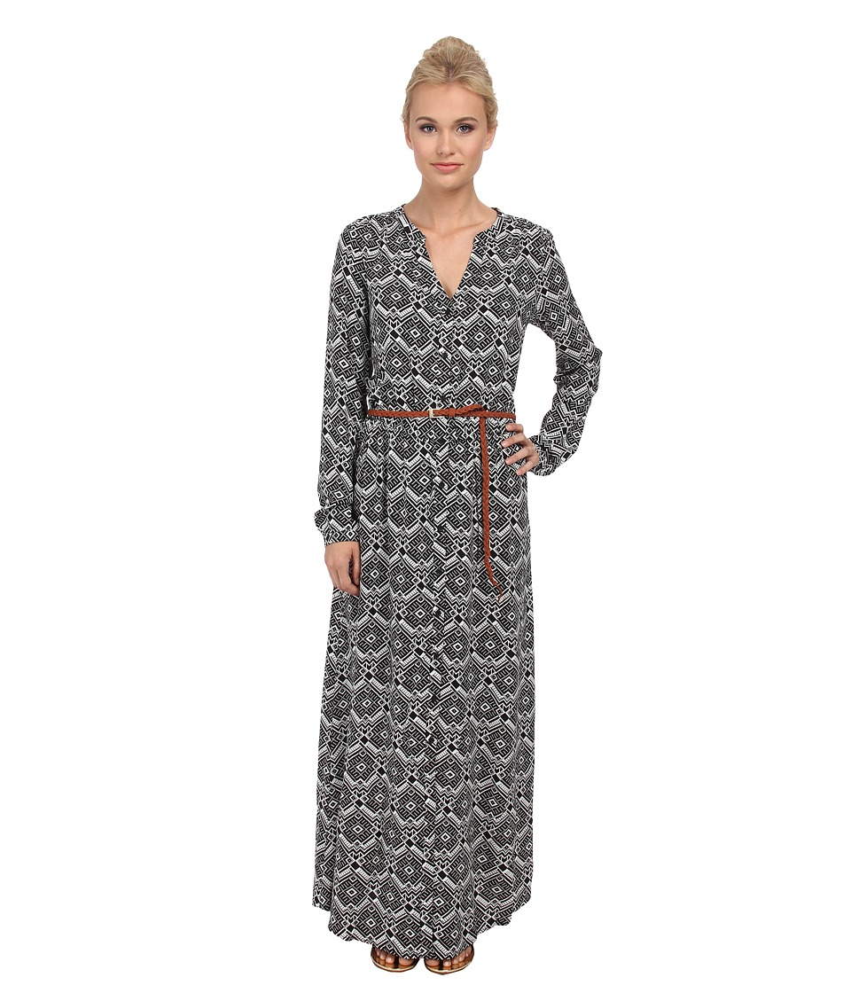 ONLY - Iris Long Sleeve Long Dress (Cloud Dancer) Women