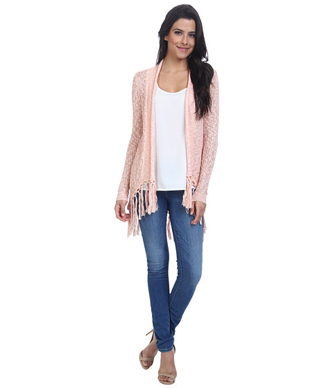 ONLY - Primitive Long Sleeve Drapy Cardigan (Peach Melba) Women's Sweater