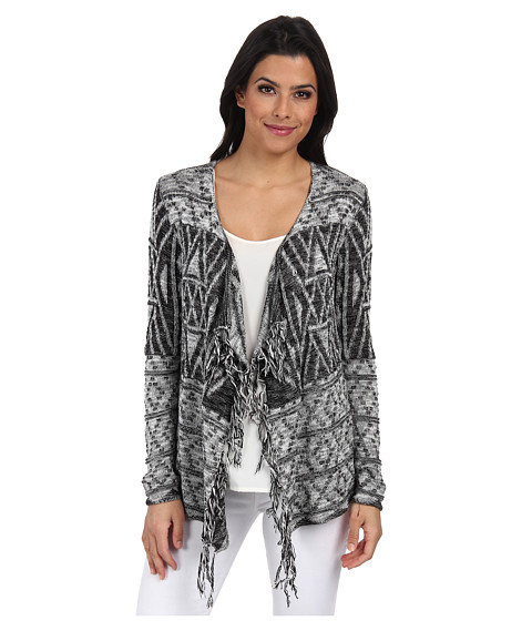 ONLY - Liva Long Sleeve Draped Cardigan (Cloud Dancer) Women's Sweater