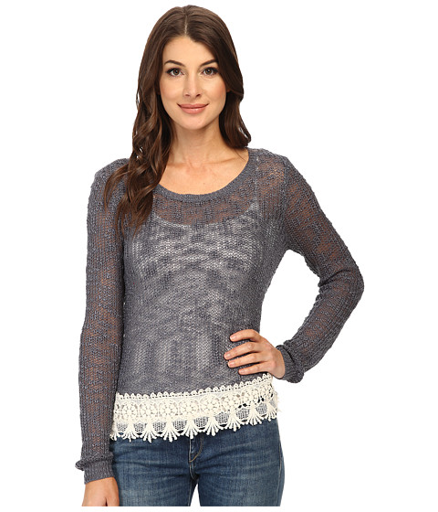 ONLY - Vanessa Long Sleeve Pullover (Grisaille) Women's Long Sleeve Pullover