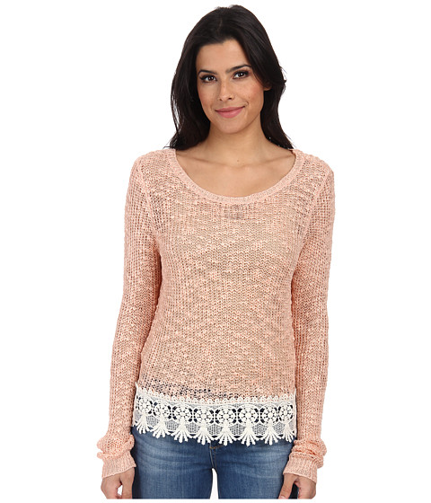 ONLY - Vanessa Long Sleeve Pullover (Peach Melba) Women's Long Sleeve Pullover