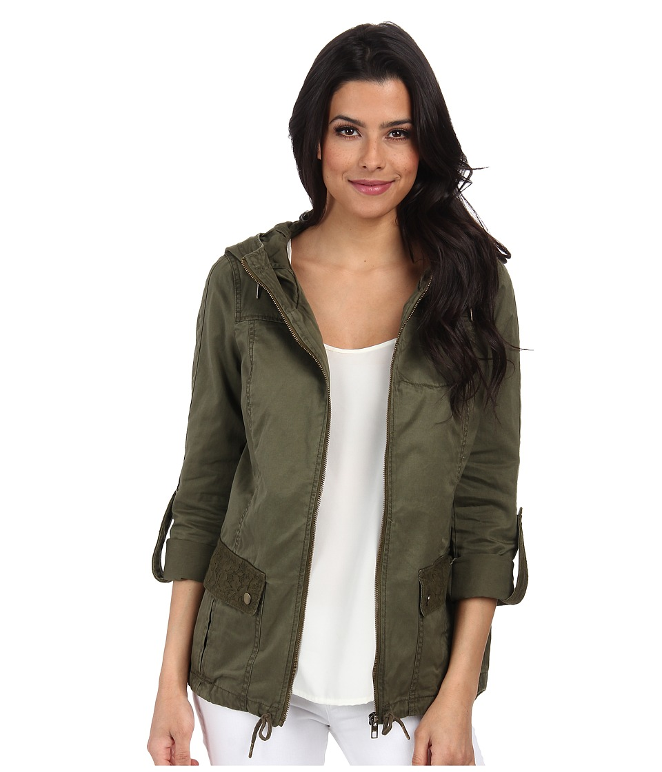 ONLY - Shannon Lace Parka (Ivy Green) Women's Coat