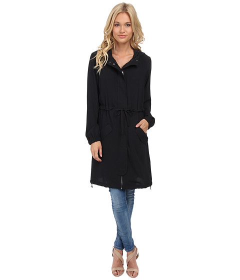 ONLY - Sensation Long Parka (Blue Graphite) Women's Coat