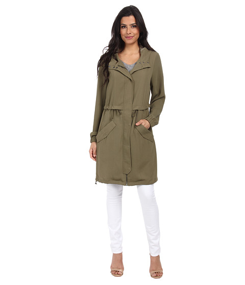ONLY - Sensation Long Parka (Ivy Green) Women's Coat