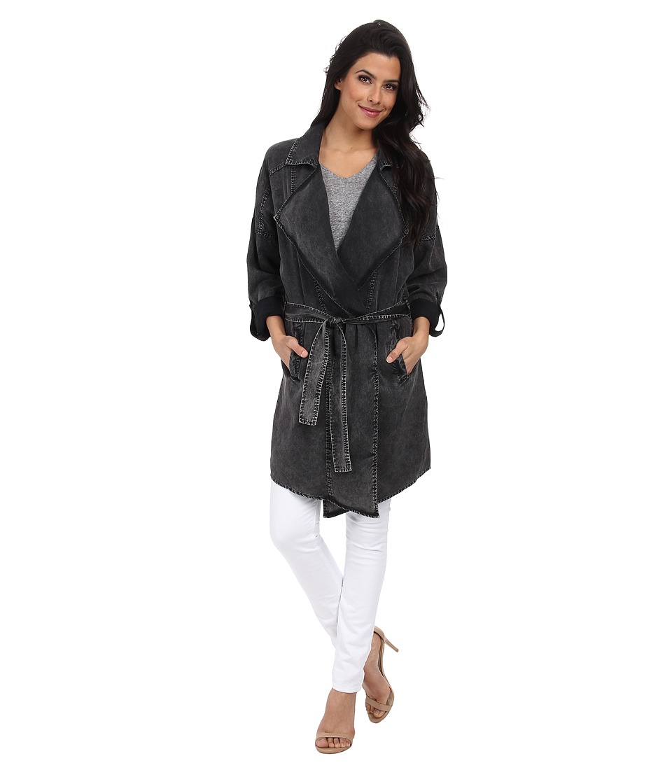 ONLY - Christina Drapy Trench Coat (Charcoal Grey) Women's Coat