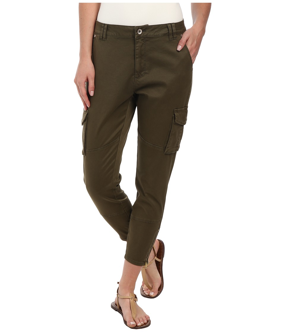ONLY - Amy Antifit Cargo Ankle Pants (Ivy Green) Women's Casual Pants
