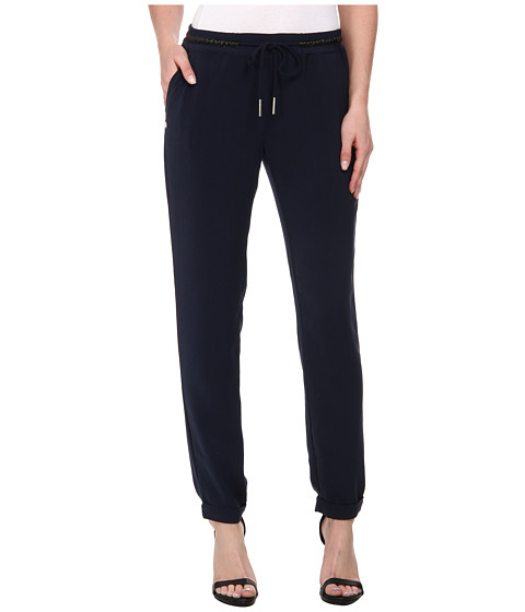 ONLY - Megan Low Loose Pants (Navy Blazer) Women's Casual Pants