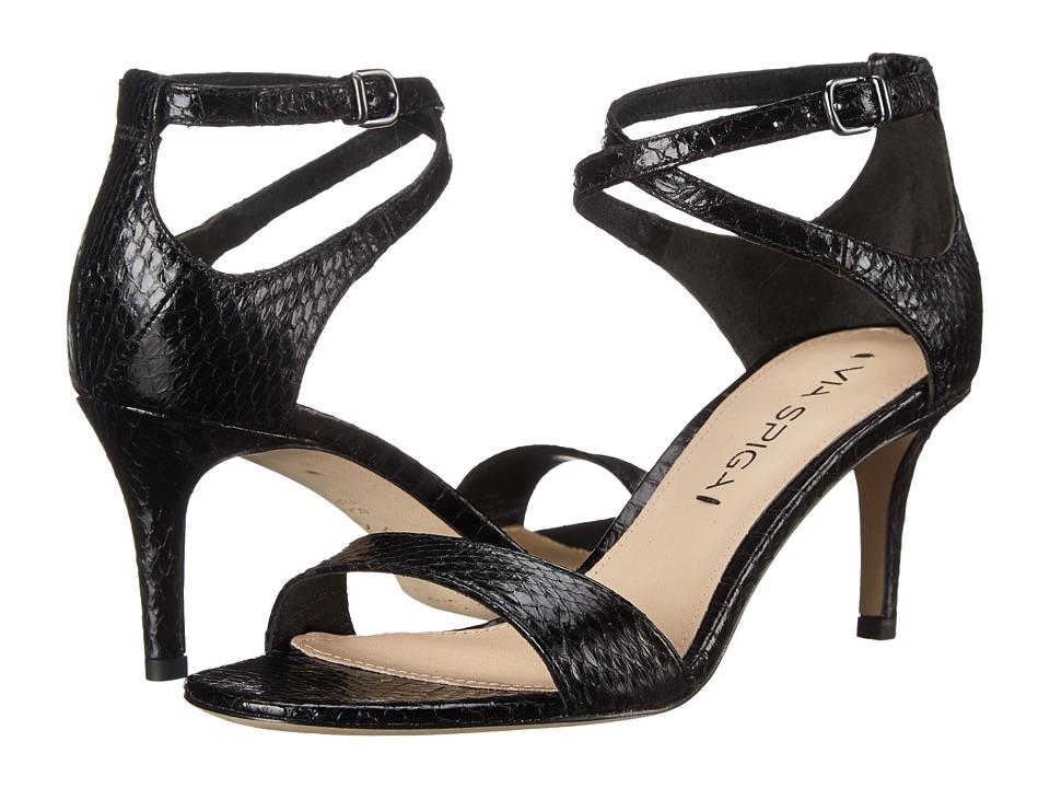 Via Spiga - Leesa (Black Shiny Land Snake) Women's Sandals
