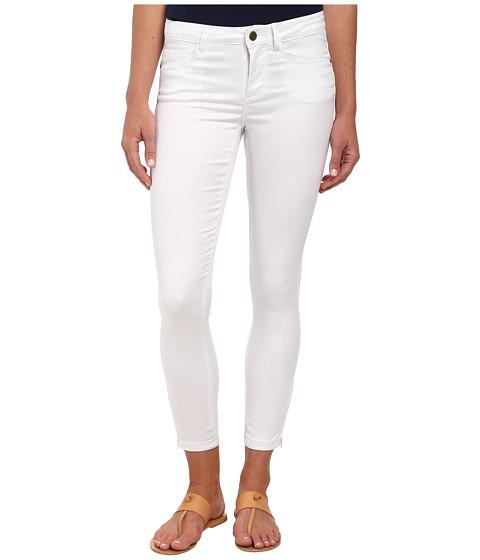 ONLY - Royal Regular Skinny Ankle Zip Jeans (White) Women's Jeans