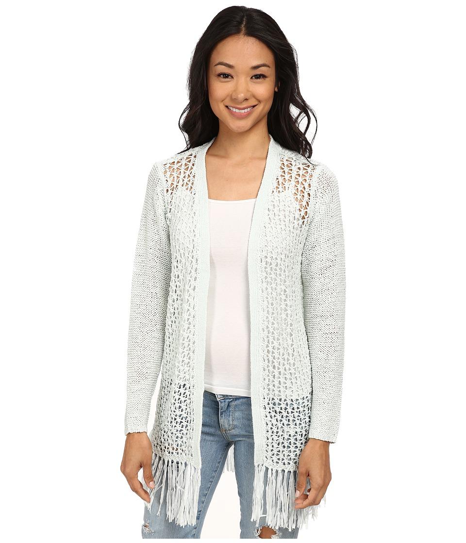 ONLY - Fringe Long Sleeve Long Cardigan (Wan Blue) Women's Sweater