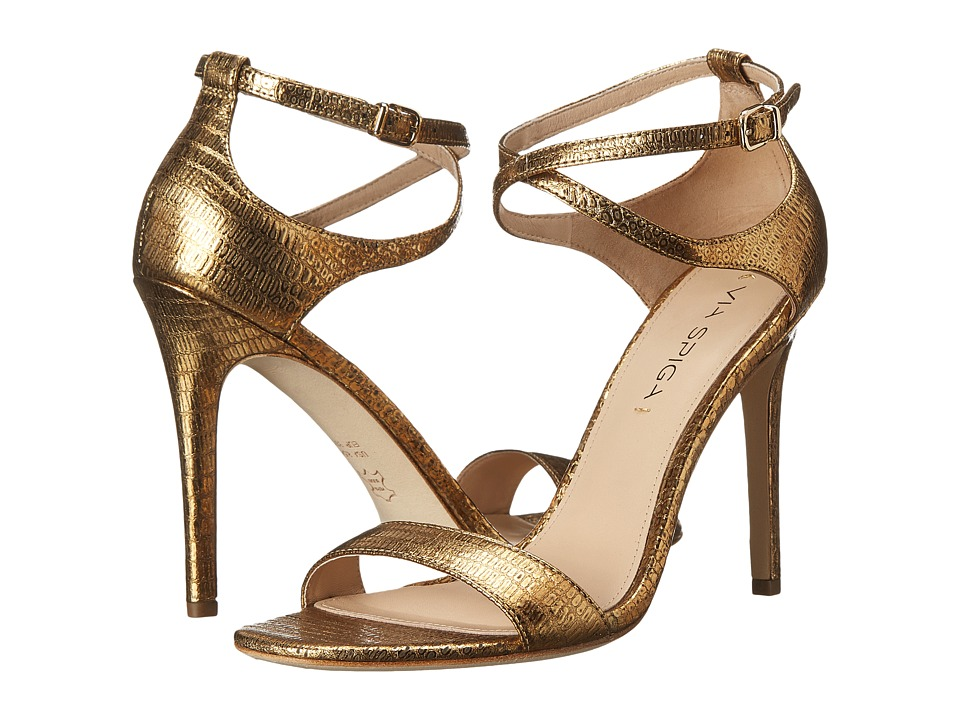 Via Spiga - Tiara (Gold Metallic Lizard Print) Women's Shoes