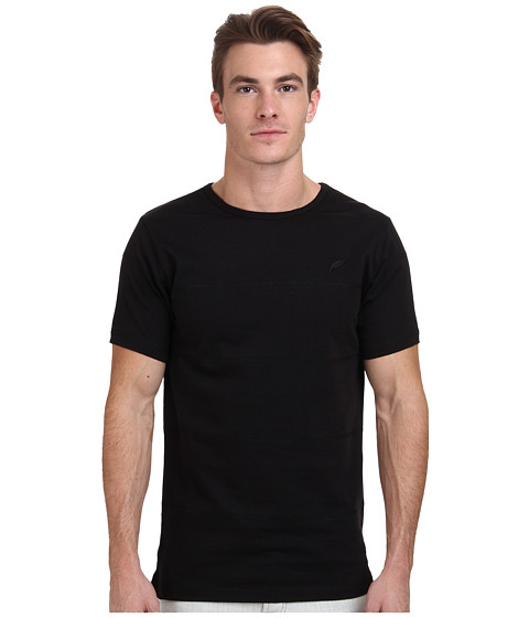 Publish - Parc Stitch Stripe Tee (Black) Men's T Shirt