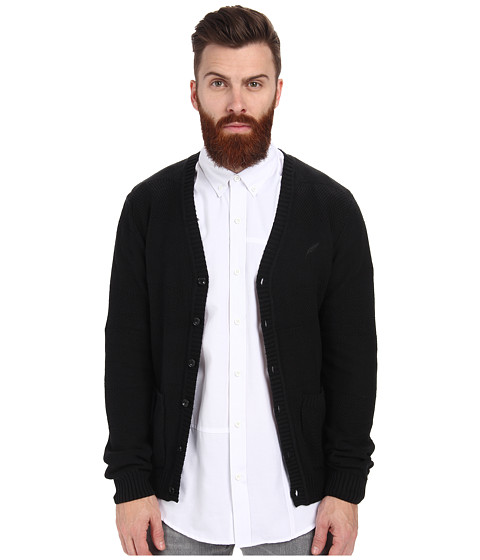 Publish - Vick Hand Knitted Cardigan (Black) Men's Sweater
