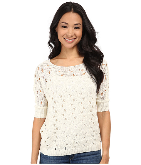 ONLY - New Light 3/4 Pullover (Cloud Dancer) Women's Clothing