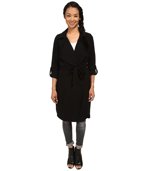 ONLY - New Drape Long Jacket (Black) Women