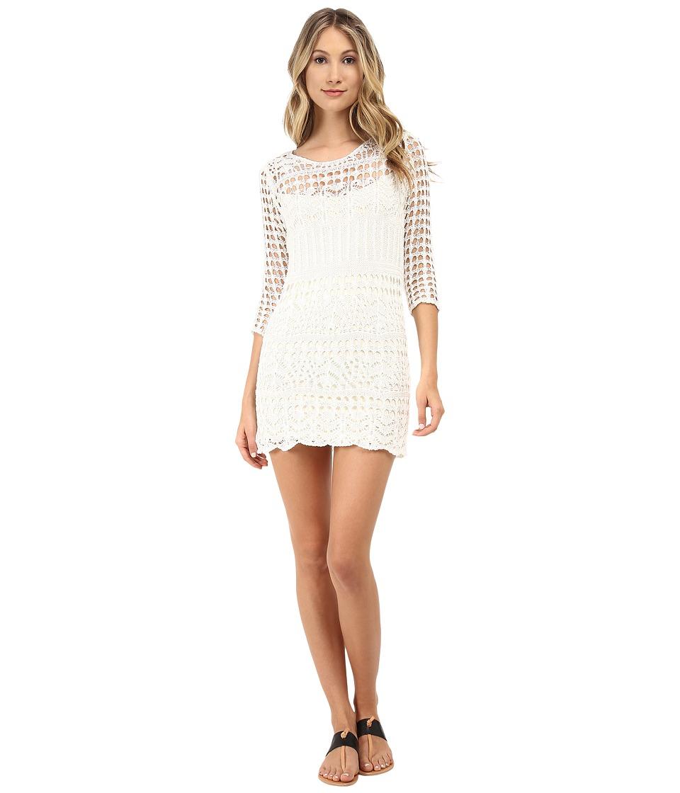 ONLY - Surf 3/4 Short Dress (Cloud Dancer) Women's Dress