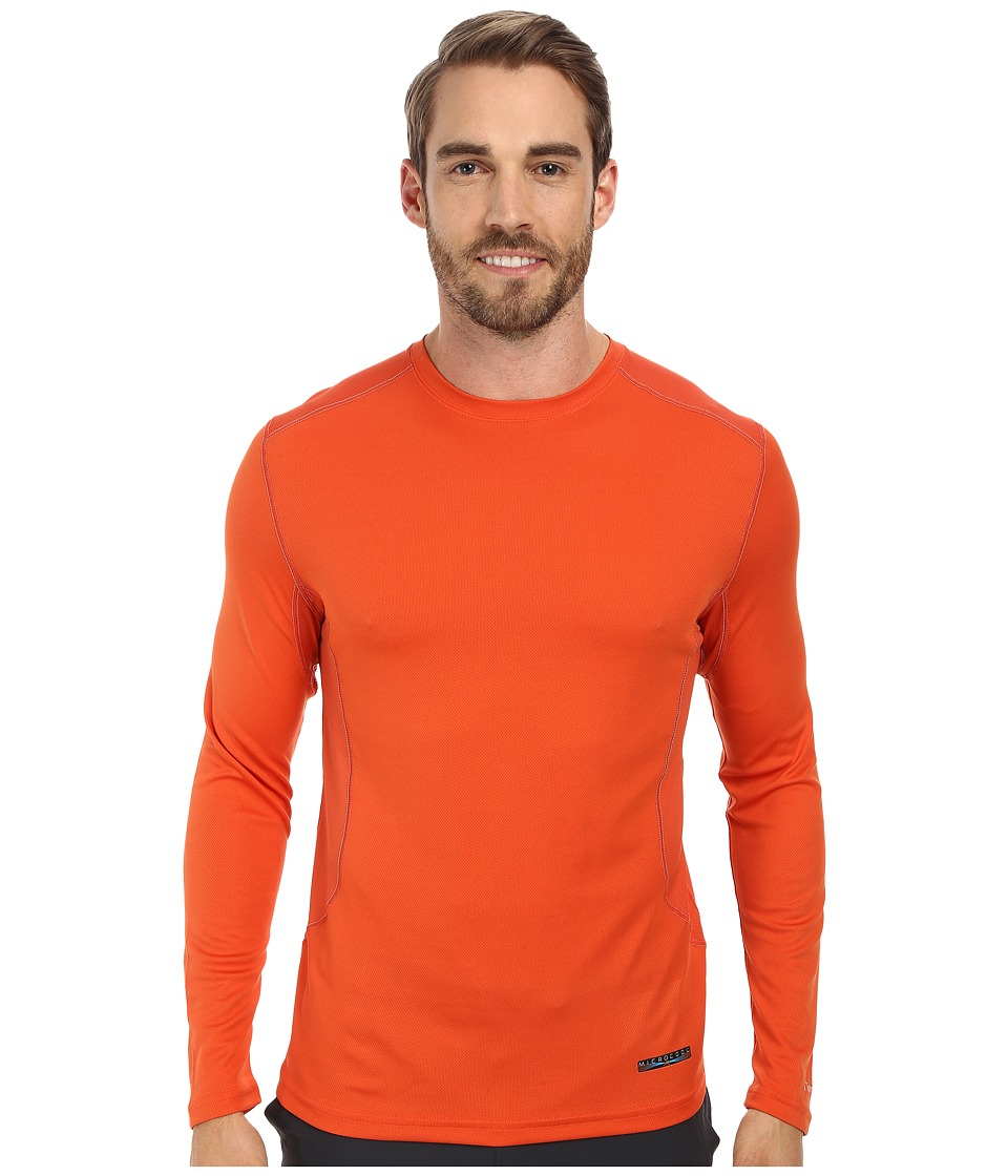 Terramar - Microcool Long Sleeve Crew W8933 (Brick) Men's Long Sleeve Pullover