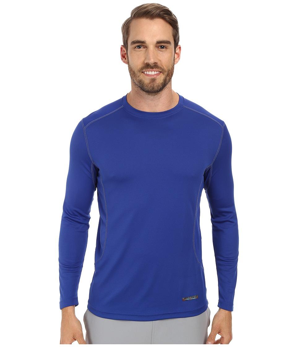 Terramar - Microcool Long Sleeve Crew W8933 (Indigo) Men's Long Sleeve Pullover