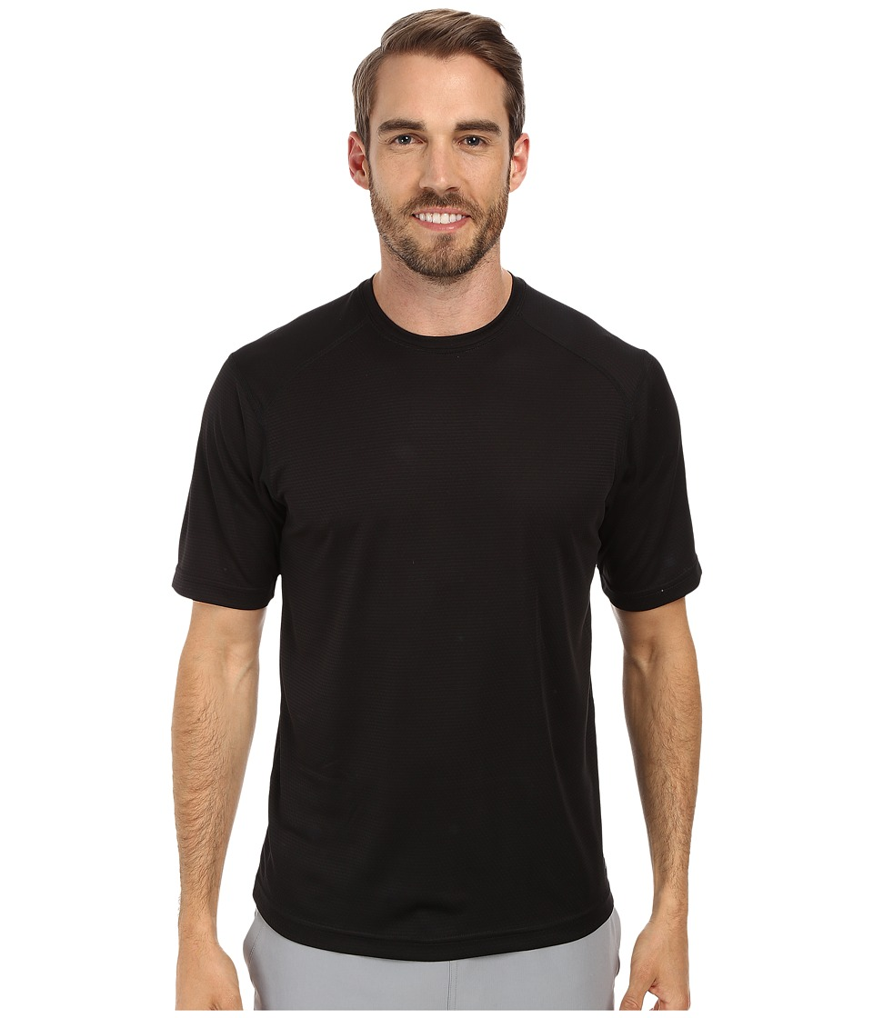 Terramar - Helix Mountain Short Sleeve Tee W7809 (Black) Men's T Shirt