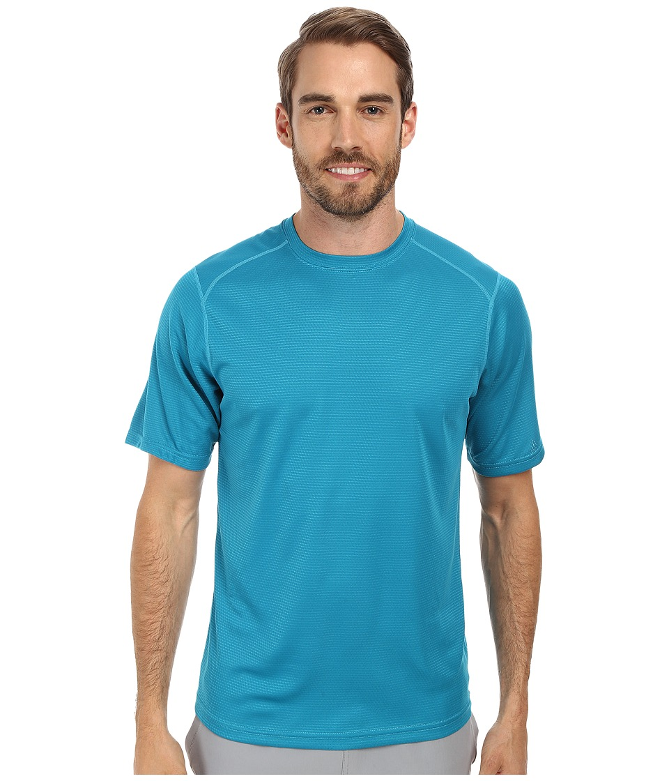 Terramar Helix Mountain Short Sleeve Tee W7809 (Lagoon) Men