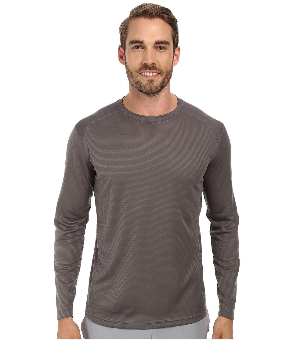 Terramar - Helix Mountain Long Sleeve Tee W8375 (Gunmetal) Men's Long Sleeve Pullover