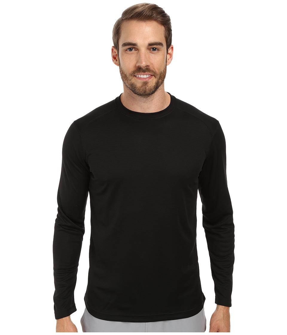 Terramar - Helix Mountain Long Sleeve Tee W8375 (Black) Men's Long Sleeve Pullover