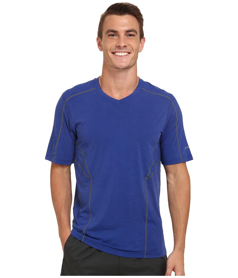 Terramar - Reflex Short Sleeve V-Neck W8909 (Indigo) Men's Short Sleeve Pullover