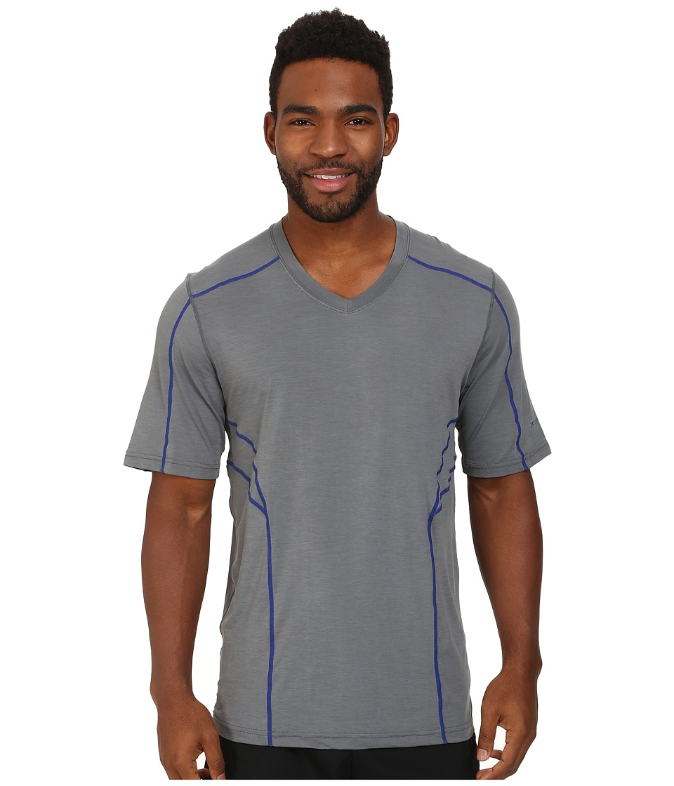 Terramar - Reflex Short Sleeve V-Neck W8909 (Neutral Grey) Men's Short Sleeve Pullover