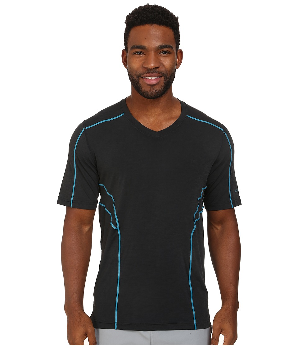 Terramar - Reflex Short Sleeve V-Neck W8909 (Black) Men's Short Sleeve Pullover