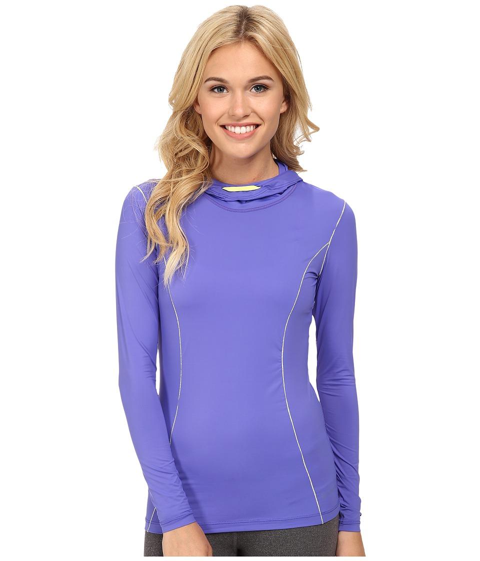 Terramar - Microcool Long Sleeve Hoodie W8836 (Periwinkle) Women's Sweatshirt