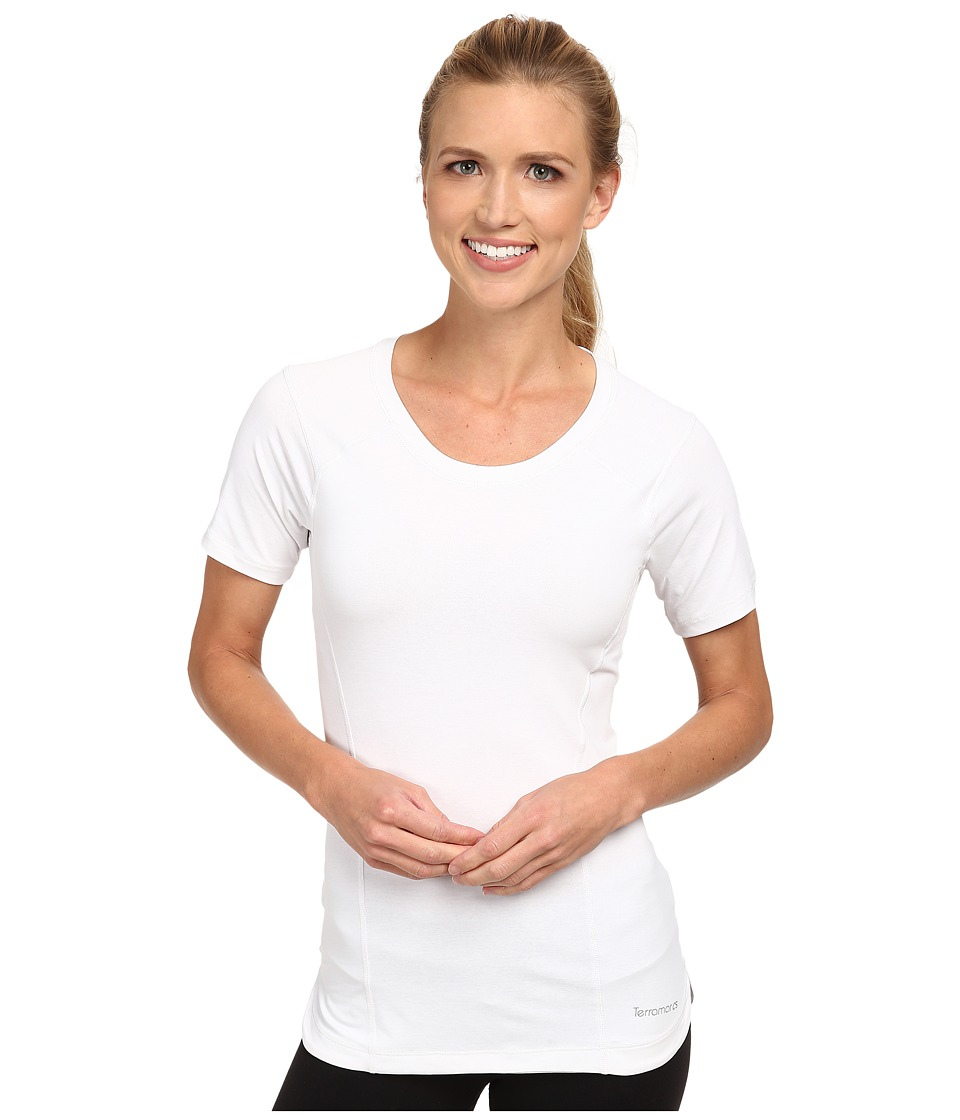 Terramar Reflextm Short Sleeve Scoop Top W8790 (White) Women